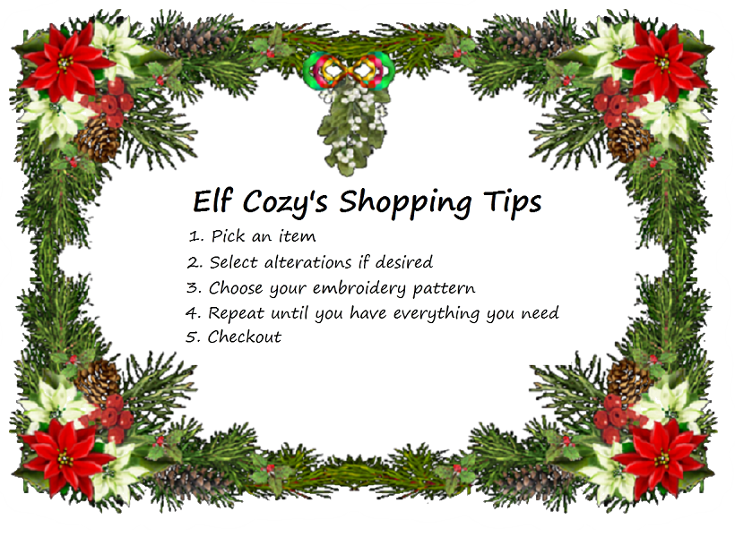Elf Cozy's Shopping Tips